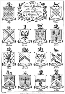 'Armorial Ensigns of the 14 Tribes of Galway' 1820