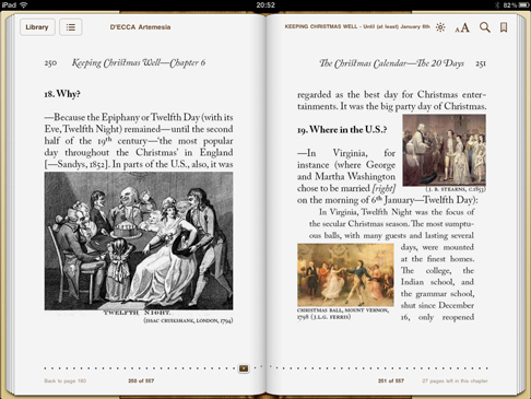 iPad image from 'Keeping Christmas Well' (pp250-251)