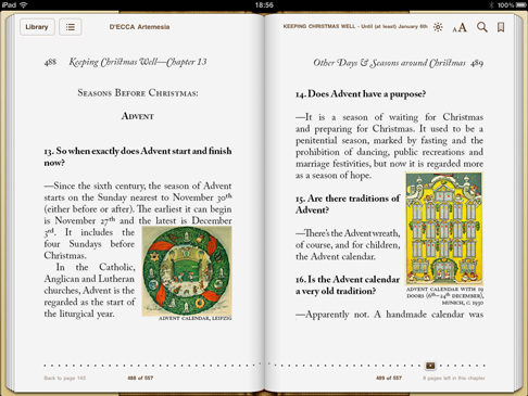 iPad screenshot 'Keeping Christmas Well' pp.488-489