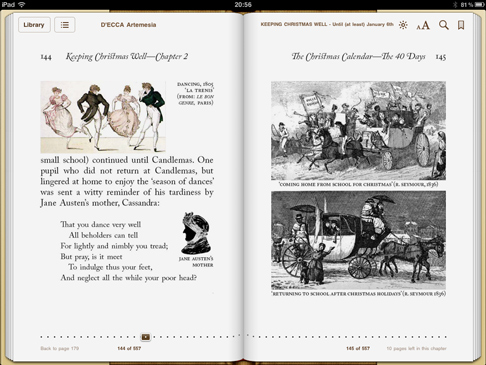 iPad screenshot 'Keeping Christmas Well' pp.144-145