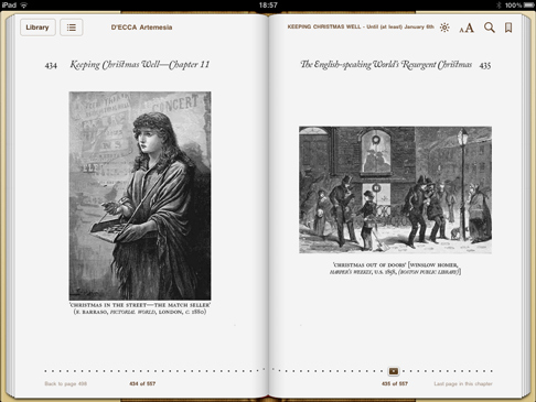 iPad image 'Keeping Christmas Well' (pp.434-435)