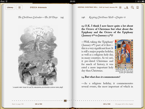 iPad image rom 'Keeping Christmas Well' (pp245-246)