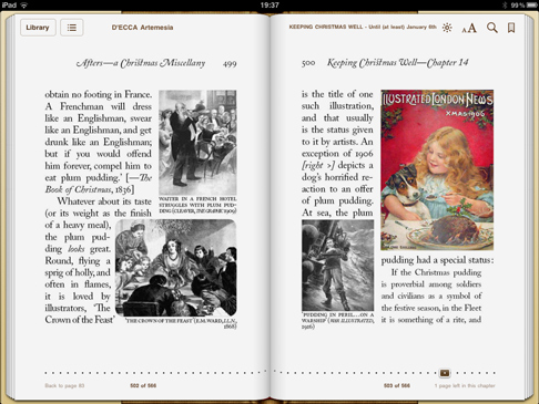 iPad screenshot 'Keeping Christmas Well' pp.499-500
